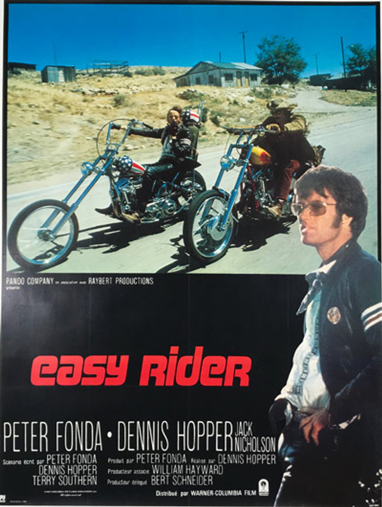 Easy Rider original 1969 French release vintage movie poster.