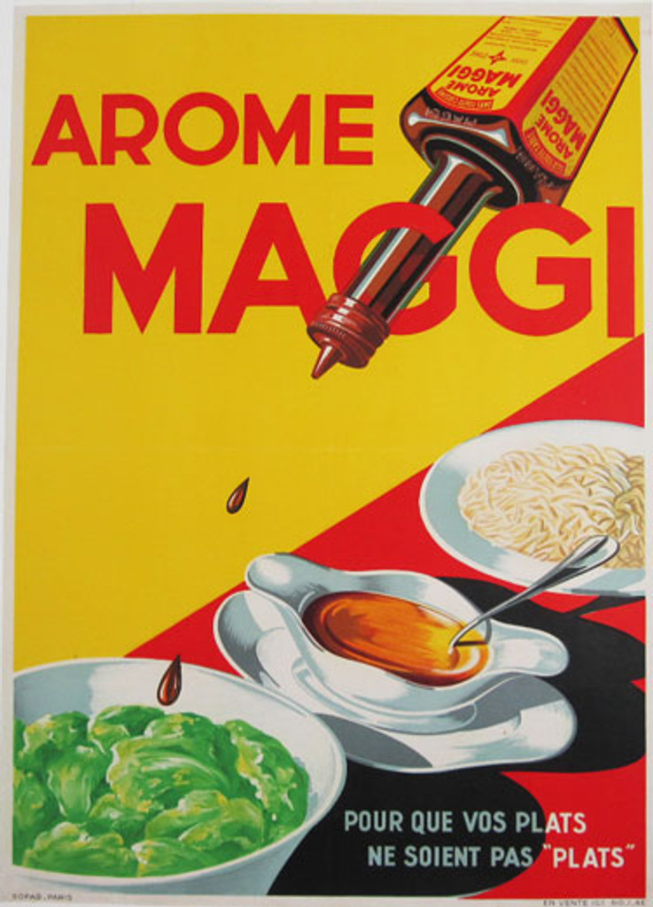 Maggi Arome from 1939 France - Food Original Poster