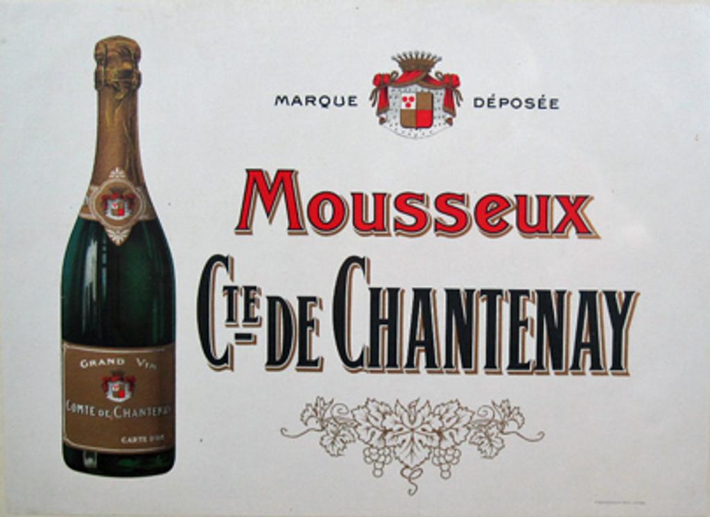 Comte De Chantenay Grand Vin original vintage poster from 1905 France