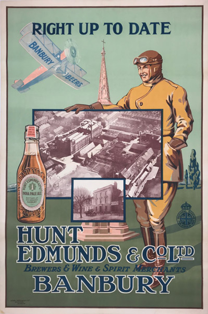 1920's English Banbury Beers Hunt Edmunds Co Ltd Poster