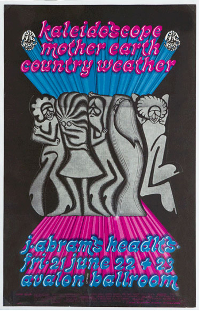 Kaleidoscope Mother Earth Country Weather by Paul Lofthouse original vintage poster from 1968 USA