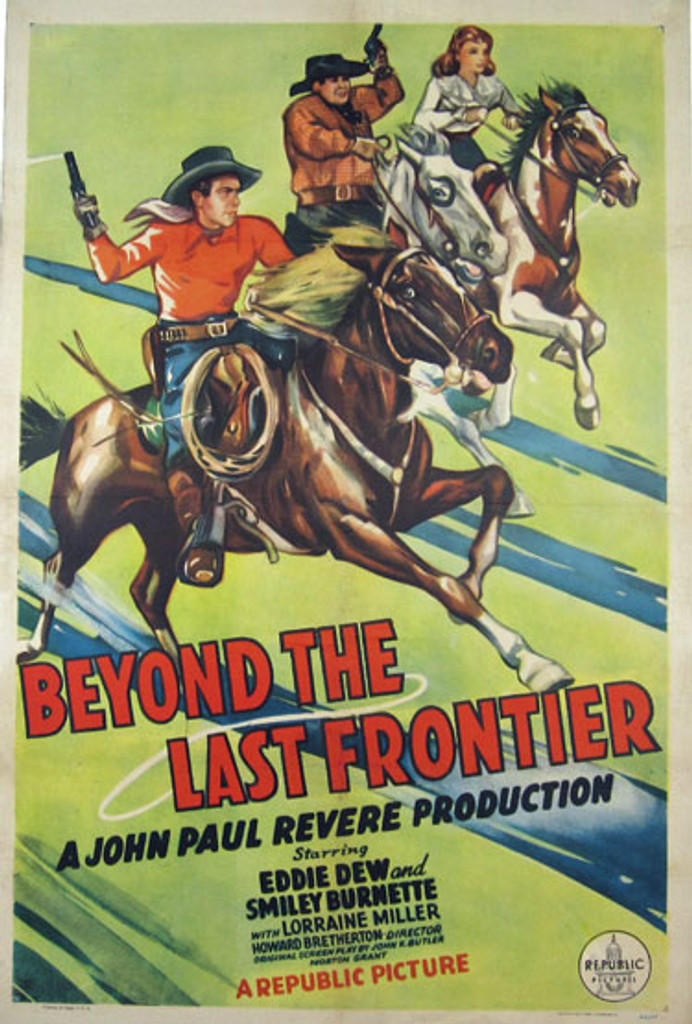 Beyond The Last Frontier original movie poster from 1943 USA
