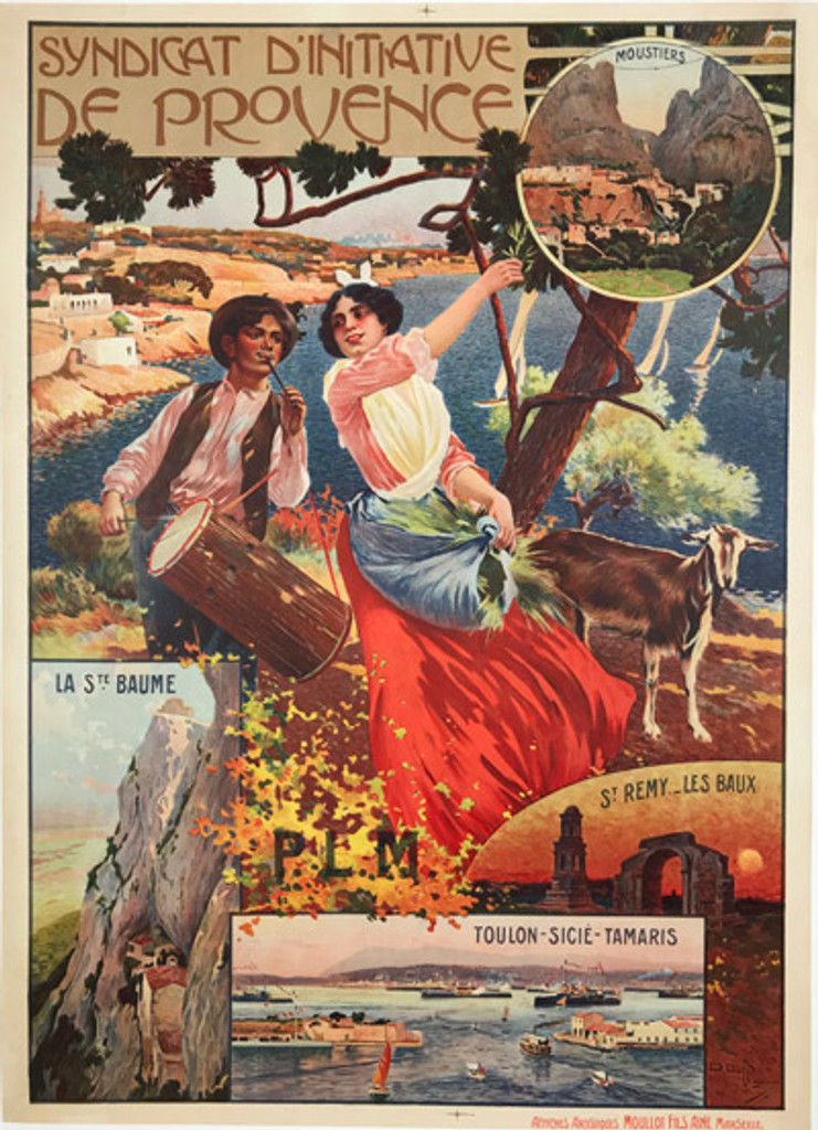1904 French SYNDICAT D INITIATIVE DE PROVENCE Poster