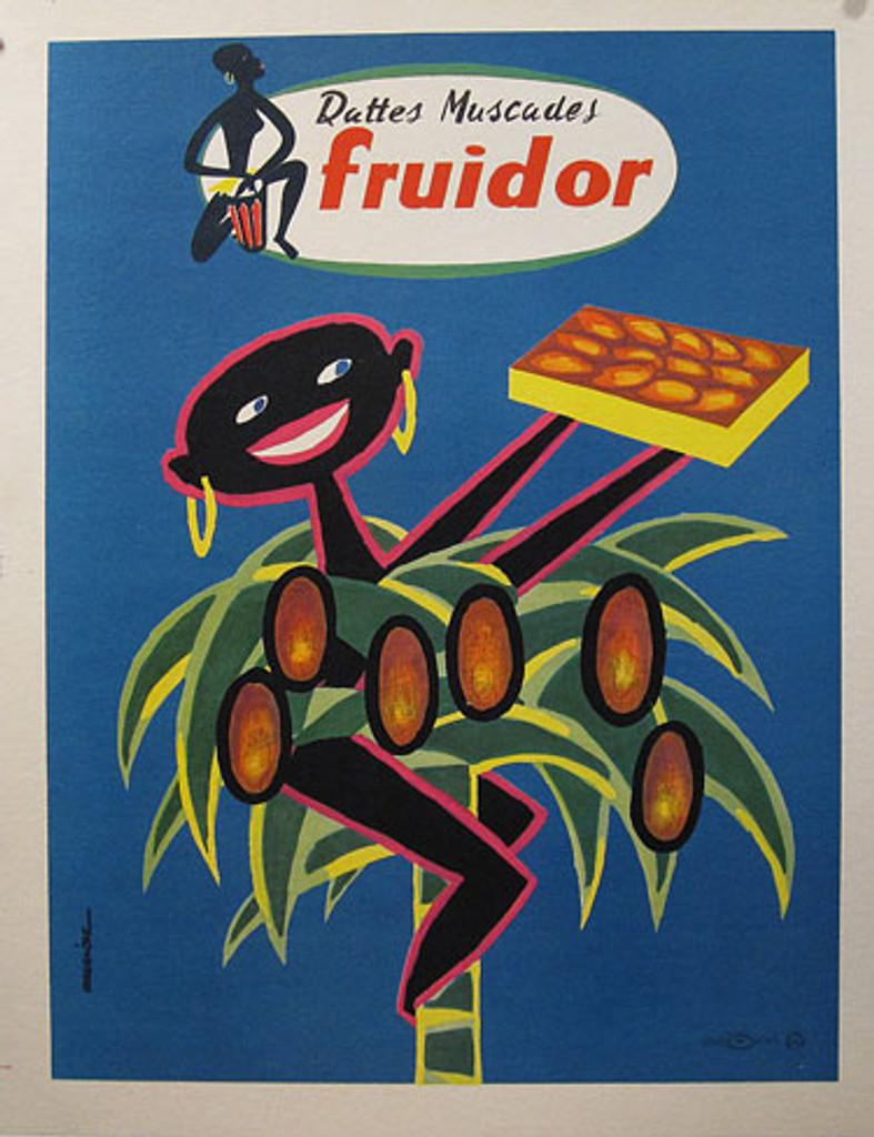 Fruidor original vintage poster from 1954 France