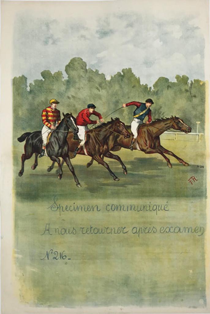 Course de Chevaux Cheval Equestrian Horse Race Illustration