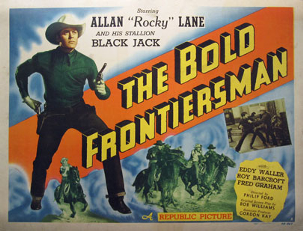 The Bold Frontiersman American original western movie poster from 1948.