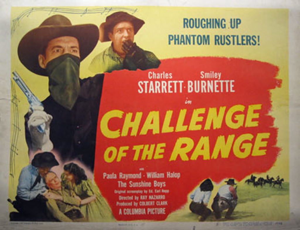 Challenge of The Range original movie poster from 1949 USA