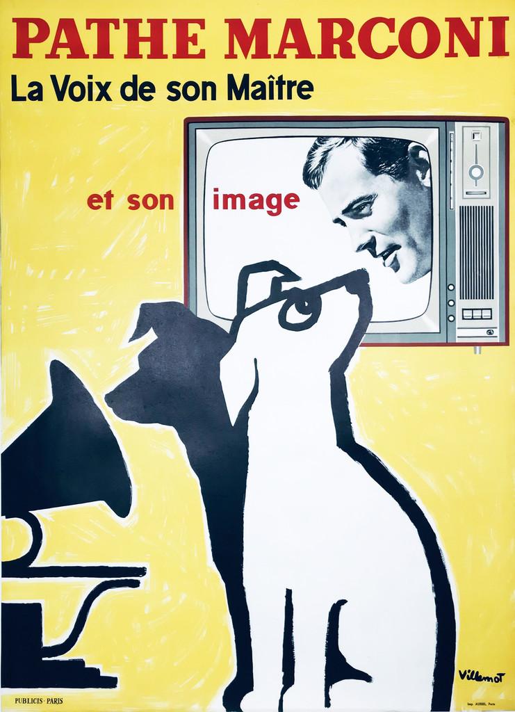 Pathe Marconi Original vintage French Poster by Bernard Villemot.