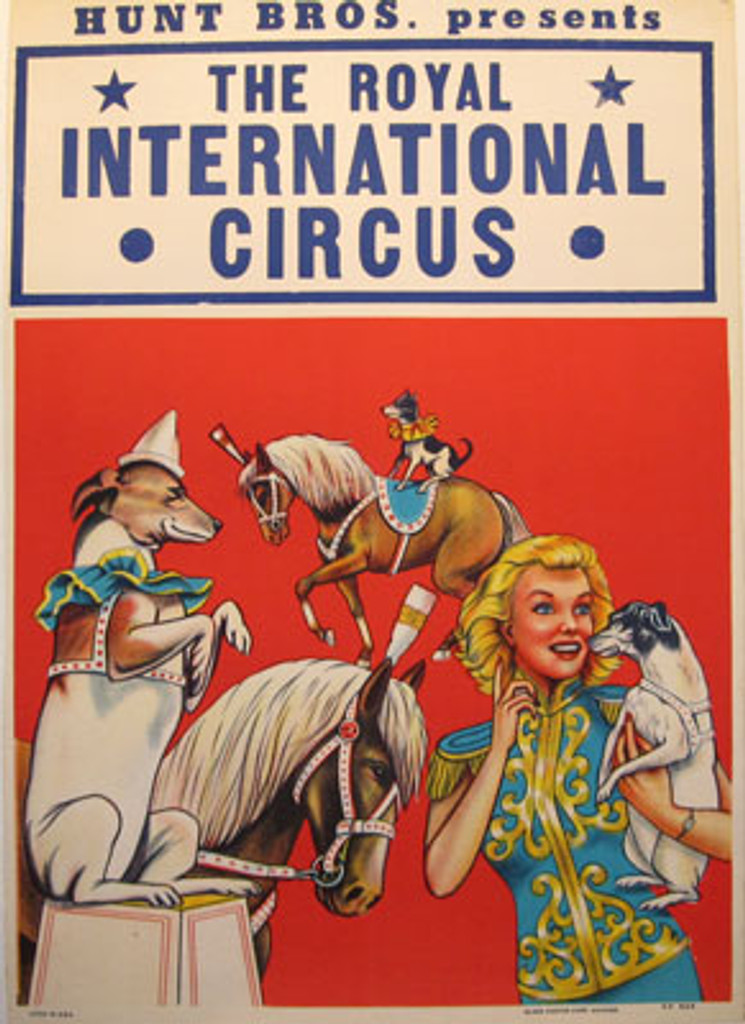 The Royal International Circus original vintage poster from 1955 USA