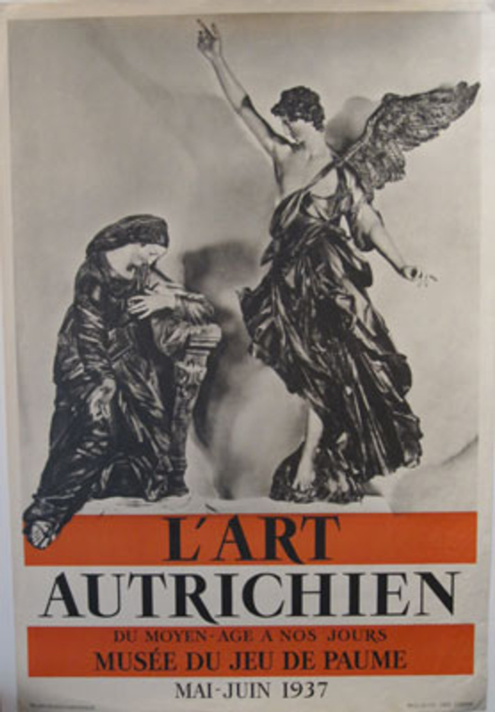 L'Art Autrichien original vintage poster from 1937 France