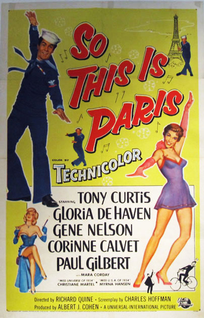 So This Is Paris original movie poster from 1954 USA