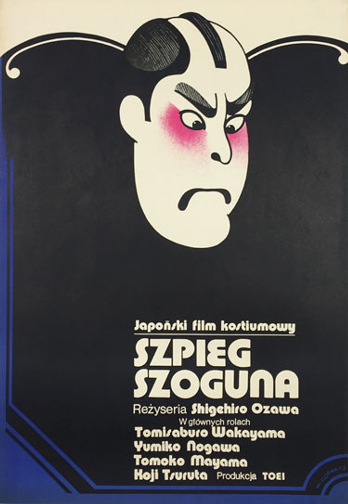 Szpieg Szoguna original polish poster by Wiktor Gorka from 1973