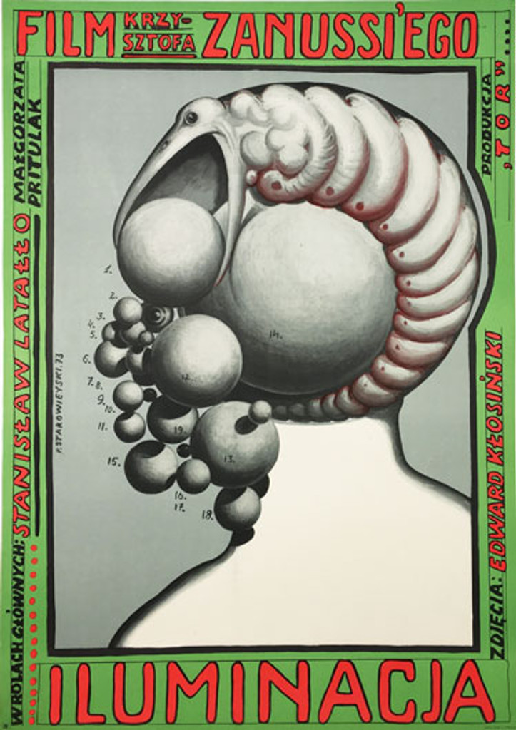 Iluminacja (The Illumination) original Polish poster by Franciszek Starowieyski from 1973
