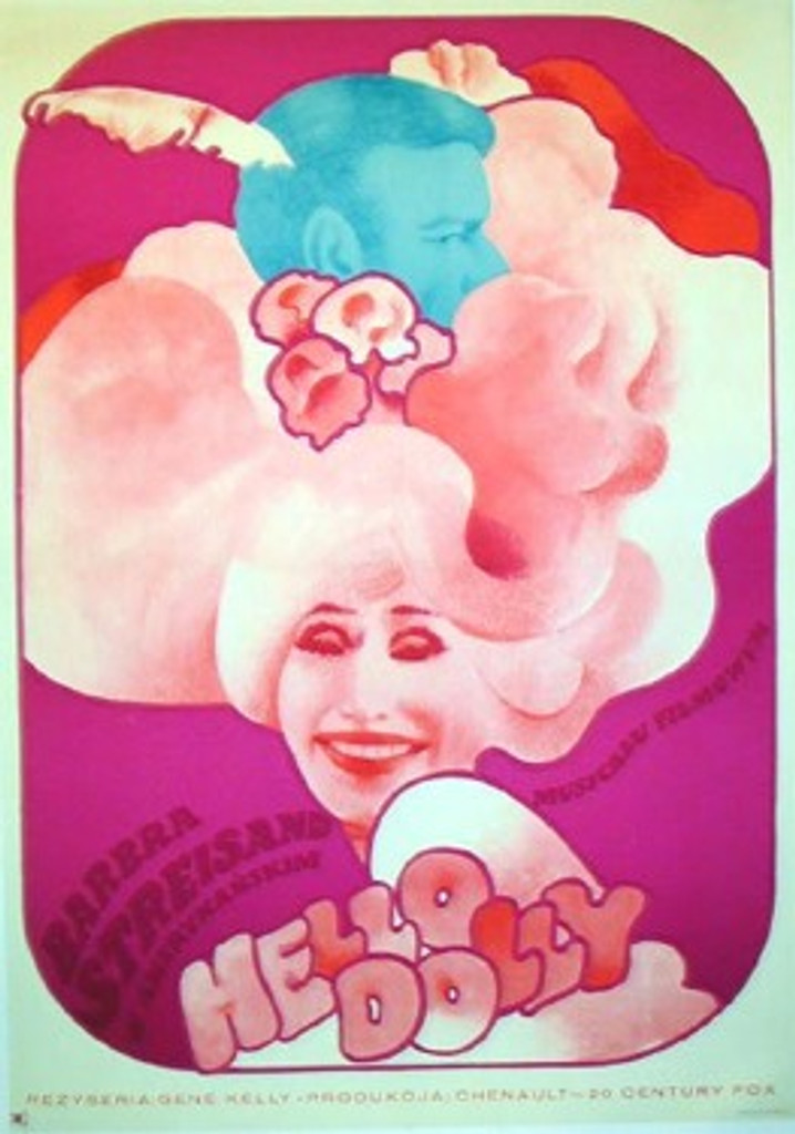 Hello Dolly original Polish poster by Maria Ihnatowicz from 1972