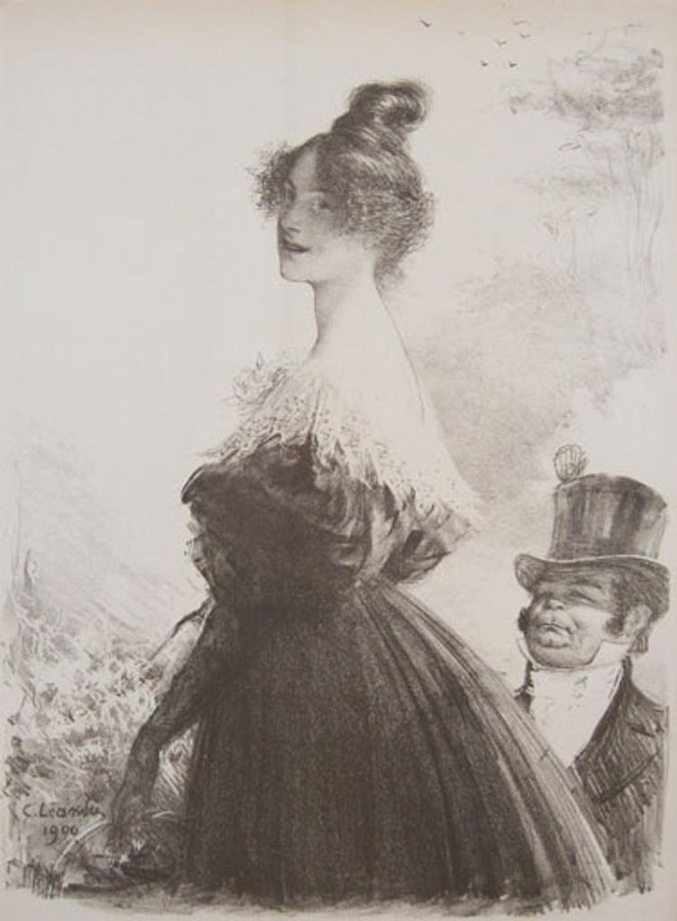 Mimi Pinson Original Les Maitres De L'Affiche Special Bonus Plate #O by Charles Leandre from 1900 France. Original Vintage Poster.