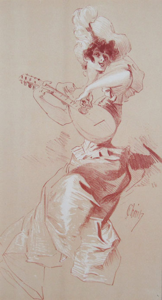 Original Les Maitres De L'Affiche Special Bonus Plate #I by Jules Cheret from 1898 France. Original Vintage Poster.