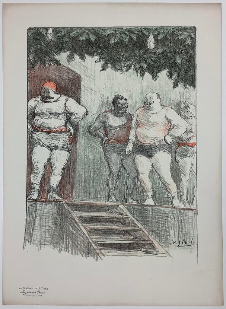 Original Les Maitres De L'Affiche Bonus Plate G by Henri-Gabriel Ibels from 1898 France. Original Vintage Poster.