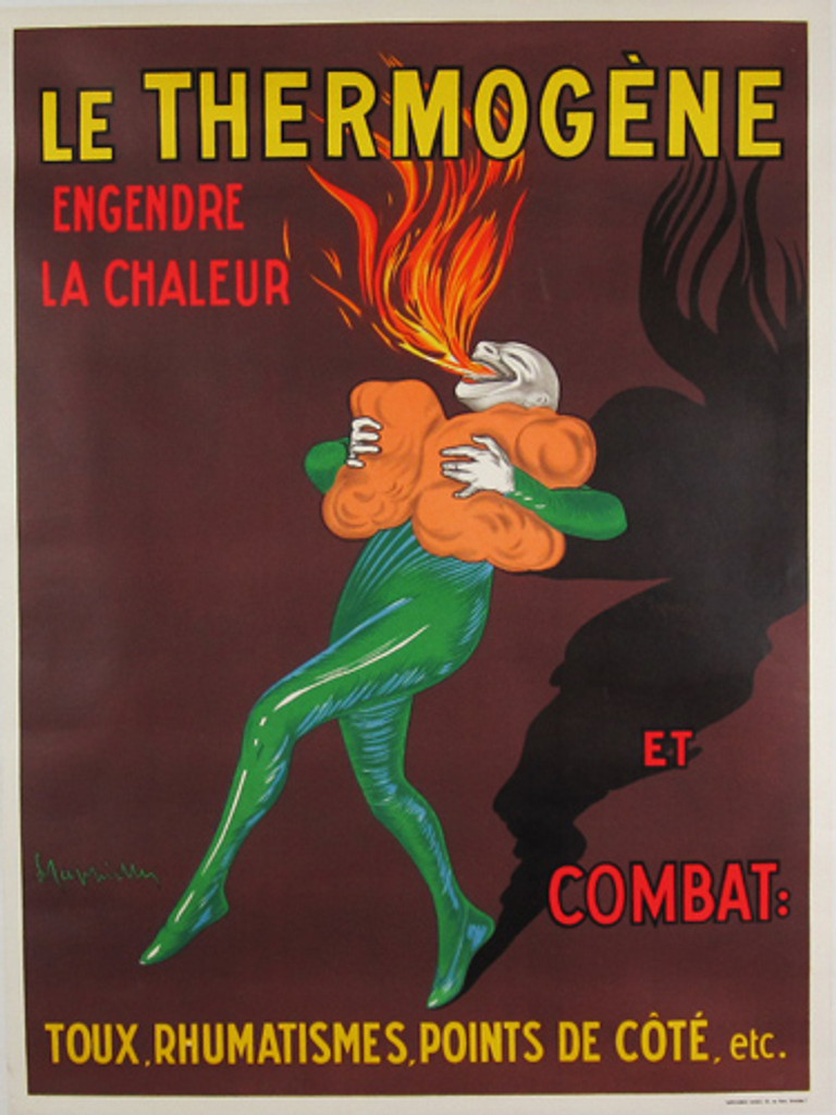 Le Thermogene origina Belgium poster by Leonetto Cappiellofrom 1952 France.