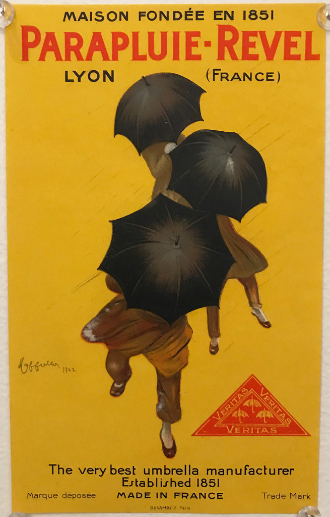 Parapluie-Revel (store display) original vintage poster by L. Cappiello from 1922 France.