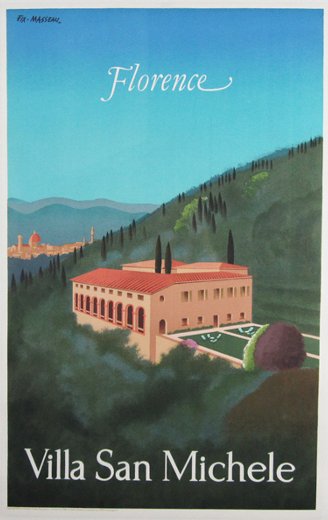 Orient Express Florence Villa San Michele original travel poster by Fix- Masseau from 1983 France.