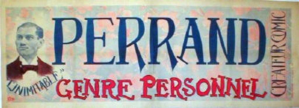 Perrand original vintage poster by LEM fro 1897 France