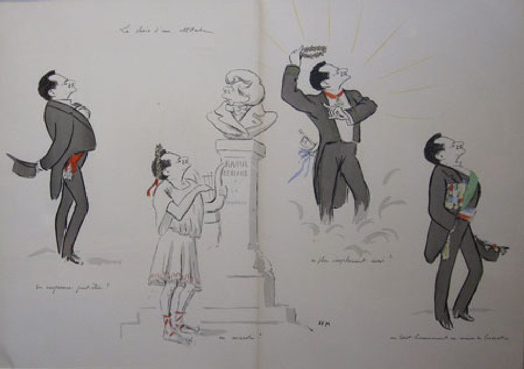 Le Ver Series Caricature by Sem from 1900 France original vintage poster.