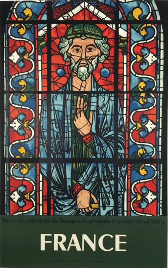 Berry la Cathédrale de Bourges France Poster