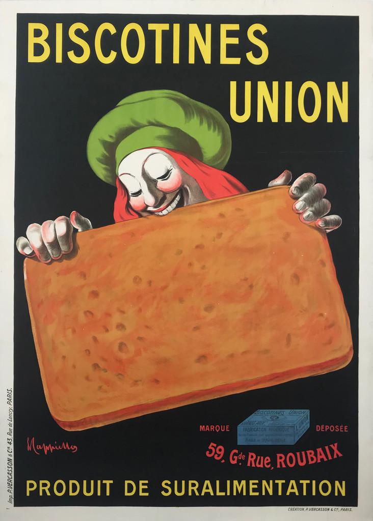 Biscotines Union Original 1906 French Stone Lithograph Advertisement Poster by  Leonetto Cappiello
