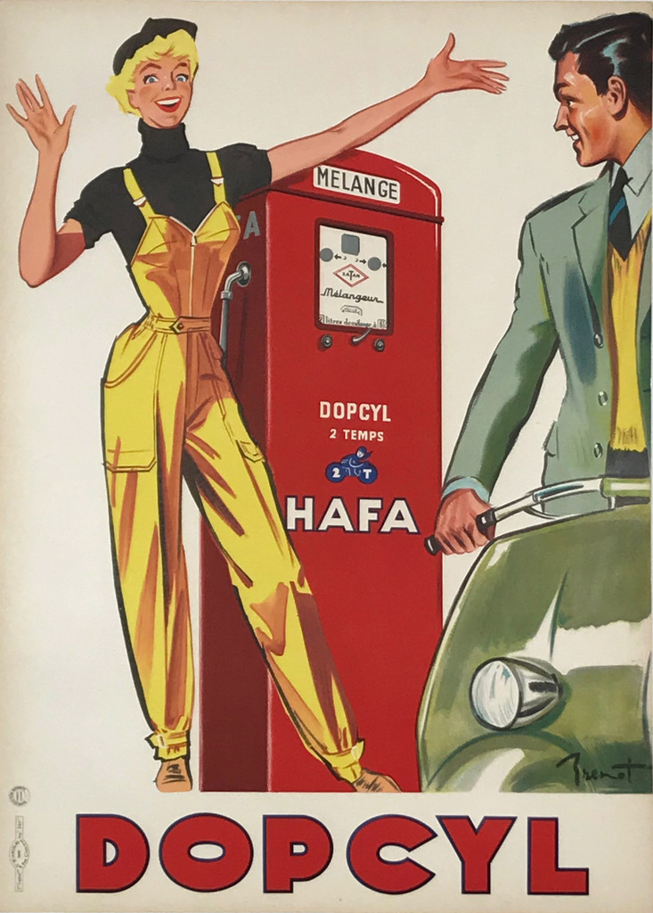 Dopcyl Hafa Original Vintage Poster Automotive Advertisement
