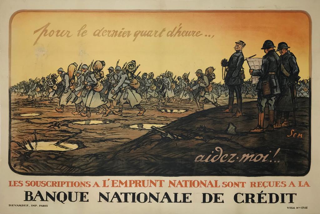 Banque Nationale De Credit original poster by Sem