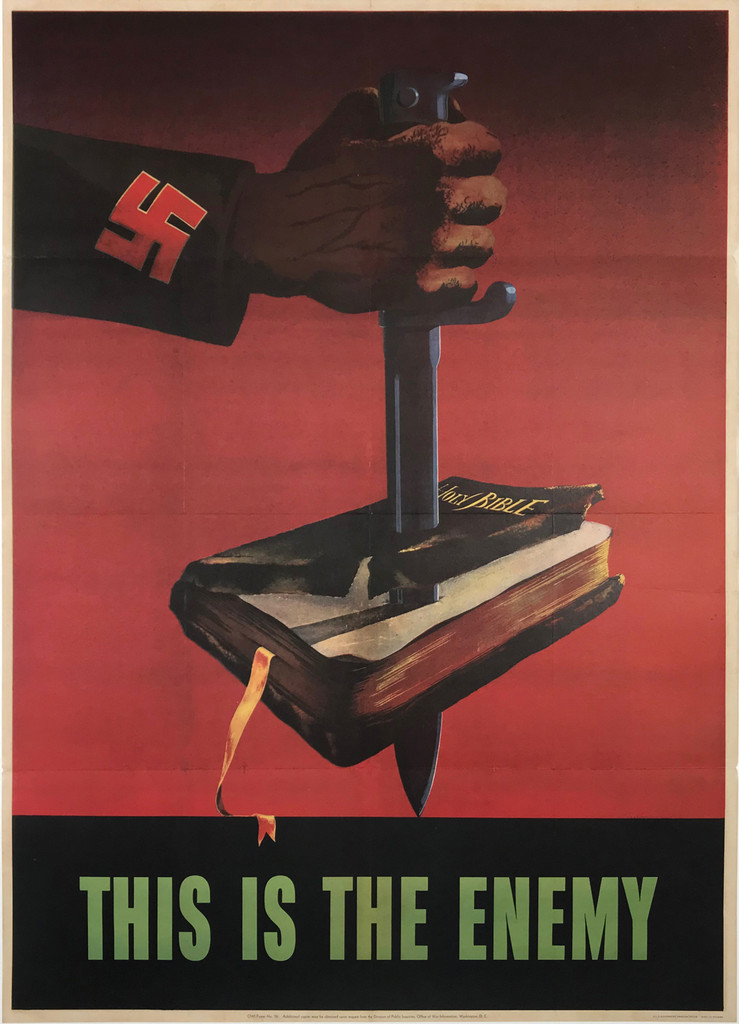 This Is The Enemy American war propaganda Original Vintage Poster from 1943