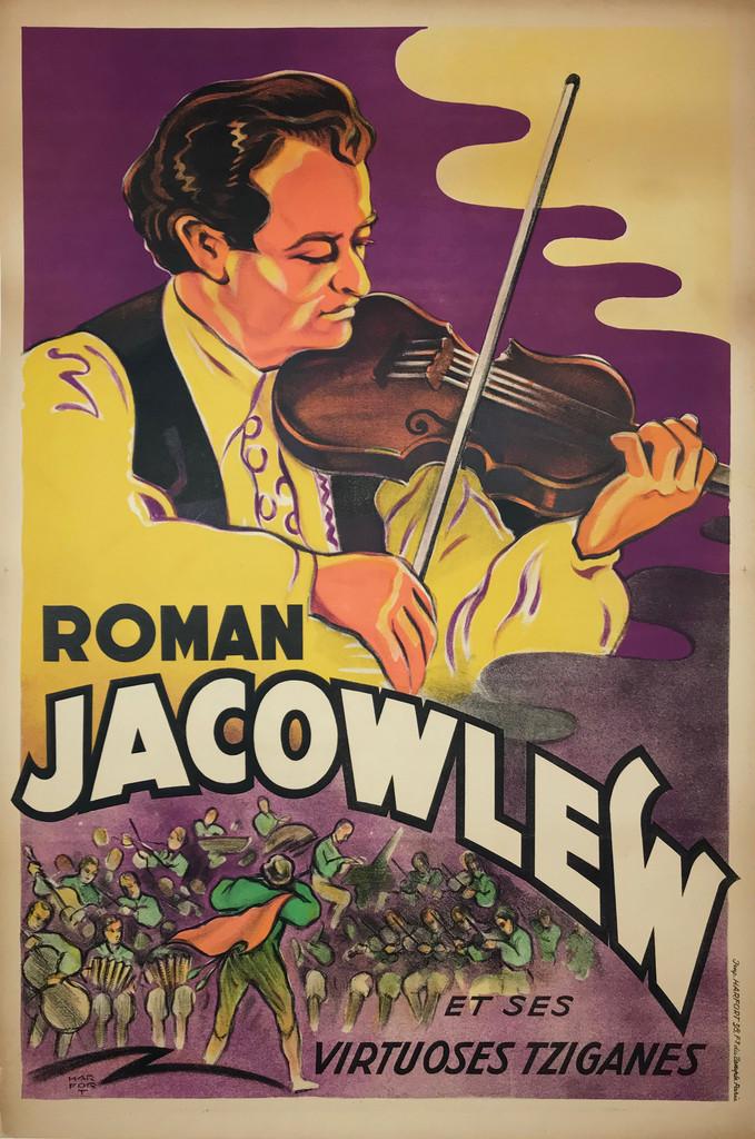 Roman Jacowlew Et Ses Virtuoses Tziganes original French vintage poster