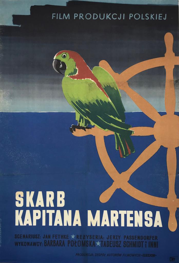 Skarb Kapitana Martensa (The Treasure of Captain Martens ) original 1957 Polish movie poster.
