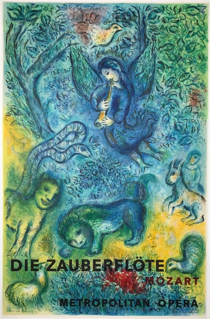 Die Zauberflote Mozart Metropolitan Opera original Marc Chagall vintage poster