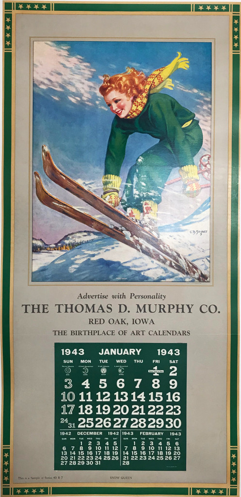 Snow Queen The Thomas D. Murphy Co. Red Oak Iowa 1943 vintage poster product advertisement