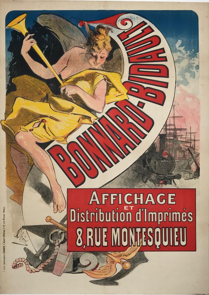 Bonnard Bidault Affichage original vintage poster by Jules Cheret.