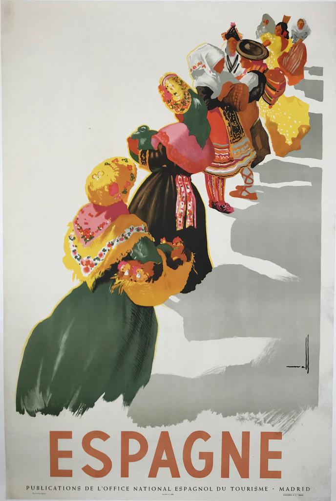 Espagne Original Vintage Spanish Travel Poster