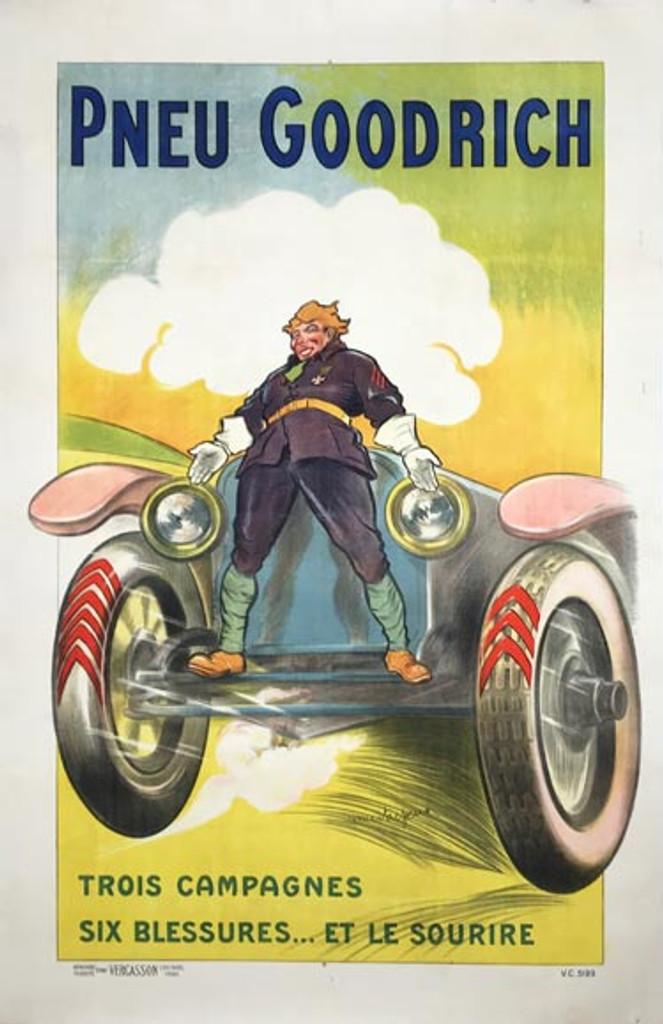 1925 Pneu Goodrich Trois Campagnes Poster