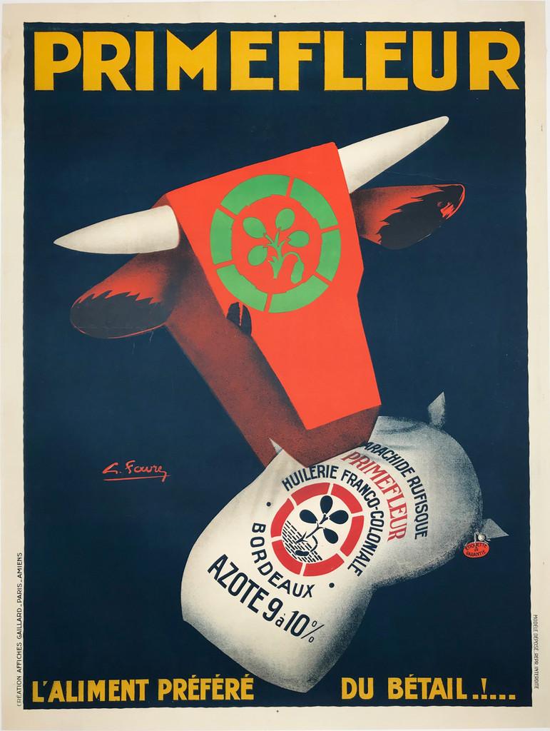 Primefleur original vintage poster by L. Favre