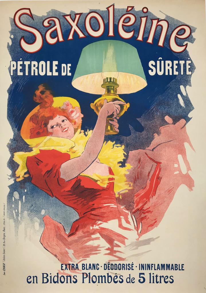 Saxoleine Petrole De Surete original vintage poster by Jules Cheret.