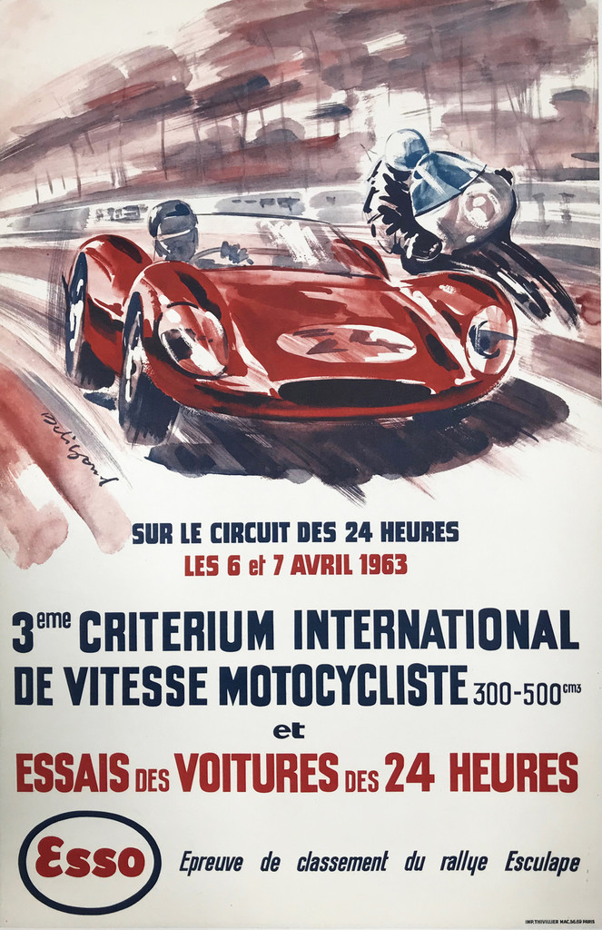 1963 Criterium International De Vitesse Motocycliste original poster