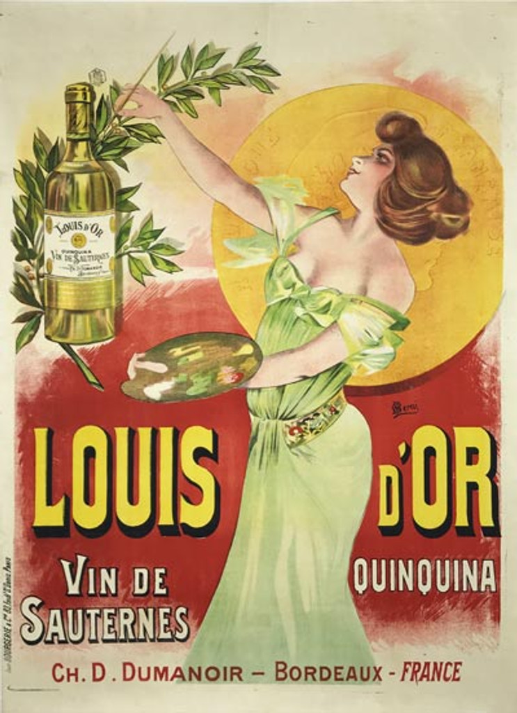 French 1899 Quinquina Louis d'Or Poster