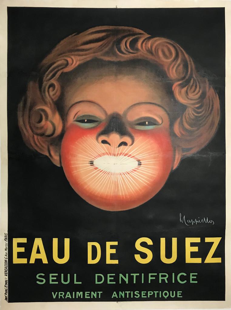 Eau De Suez Seul Dentifrice original vintage poster by Leonetto Capiello.