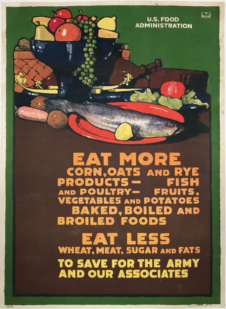 Eat More Corn, Oats And Rye Products original vintage poster