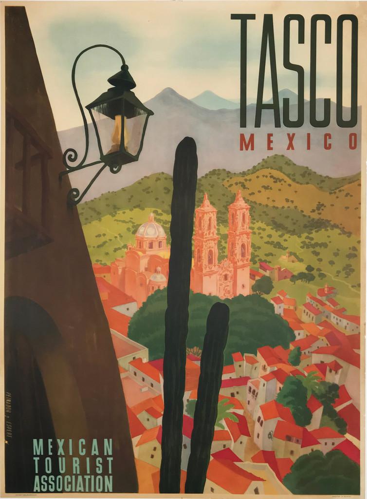Tasco Mexico original travel poster