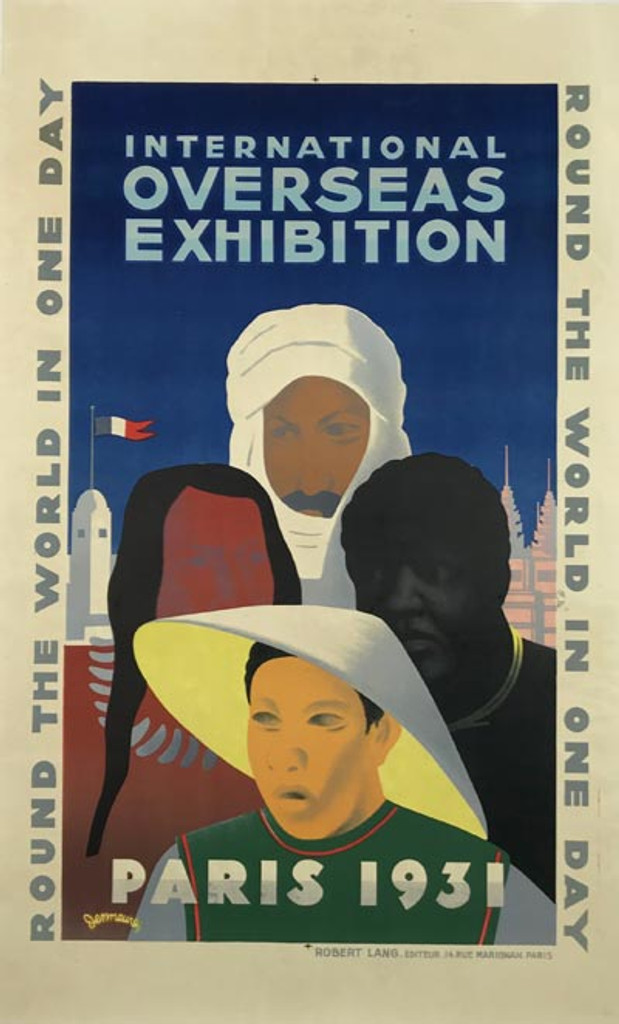 International Overseas Exhibition Paris 1931 original vintage poster by Jean Victor Desmeures.