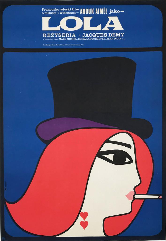 Lola Original 1967 Polish Movie Poster by Maciej Hubner Put On Linen Backing.