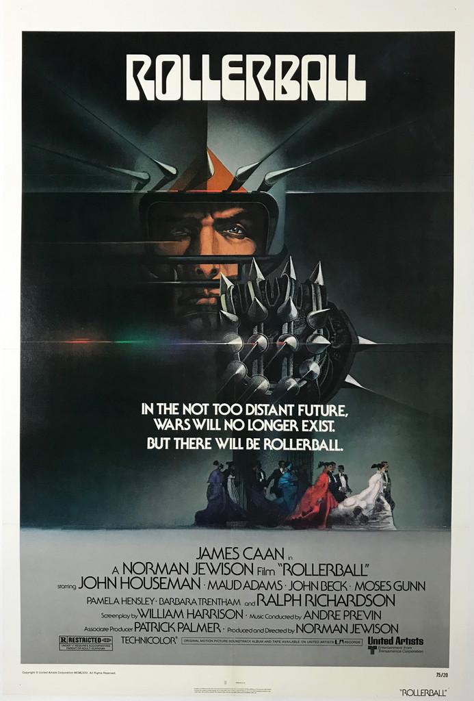 Rollerball Original 1975 American Movie Poster by Bob Peak.