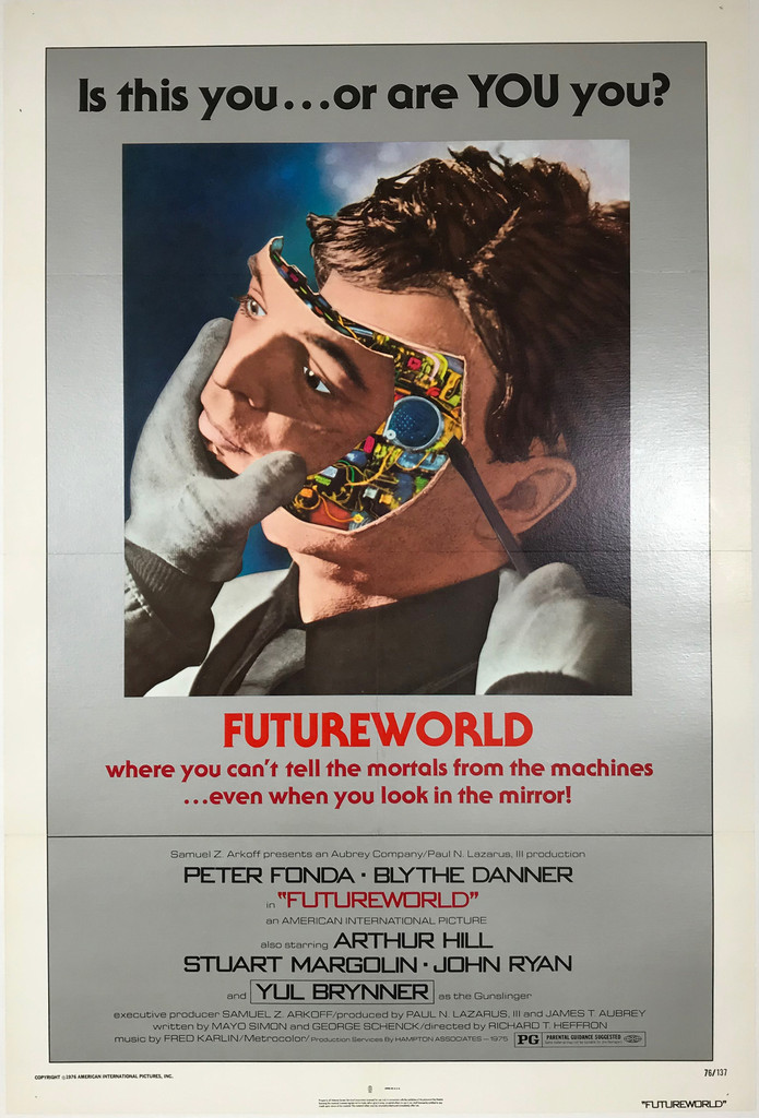 Futureworld Original Theater Used 1976 American Movie Poster