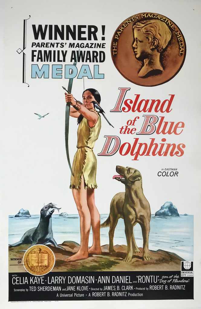 Island of the Blue Dolphins Original 1964 American Movie Poster